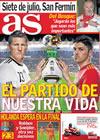 Portada diario AS del 7 de Julio de 2010