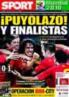 Portada diario Sport del 8 de Julio de 2010