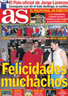 Portada diario AS del 9 de Julio de 2010