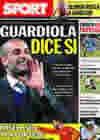 Portada diario Sport del 9 de Julio de 2010
