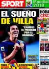 Portada diario Sport del 10 de Julio de 2010