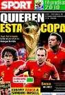 Portada diario Sport del 11 de Julio de 2010