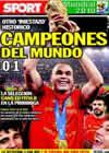 Portada diario Sport del 12 de Julio de 2010