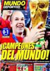 Portada Mundo Deportivo del 12 de Julio de 2010