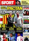 Portada diario Sport del 15 de Julio de 2010