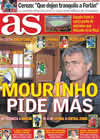 Portada diario AS del 16 de Julio de 2010