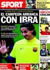 Portada diario Sport del 19 de Julio de 2010