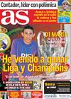 Portada diario AS del 20 de Julio de 2010