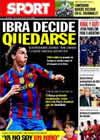 Portada diario Sport del 22 de Julio de 2010