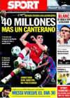 Portada diario Sport del 24 de Julio de 2010