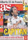 Portada diario AS del 26 de Julio de 2010