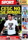 Portada diario Sport del 31 de Julio de 2010