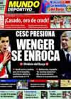 Portada Mundo Deportivo del 31 de Julio de 2010