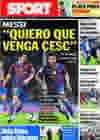 Portada diario Sport del 1 de Agosto de 2010