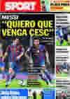 Portada diario Sport del 1 de Agosto de 2010