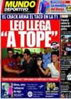 Portada Mundo Deportivo del 1 de Agosto de 2010