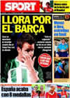 Portada diario Sport del 2 de Agosto de 2010