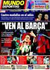 Portada Mundo Deportivo del 2 de Agosto de 2010