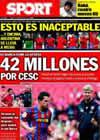 Portada diario Sport del 6 de Agosto de 2010
