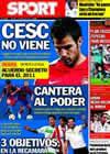 Portada diario Sport del 7 de Agosto de 2010