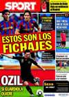 Portada diario Sport del 8 de Agosto de 2010