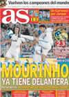 Portada diario AS del 9 de Agosto de 2010