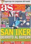 Portada diario AS del 14 de Agosto de 2010