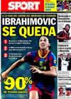 Portada diario Sport del 19 de Agosto de 2010