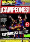 Portada Mundo Deportivo del 22 de Agosto de 2010