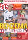 Portada diario AS del 23 de Agosto de 2010
