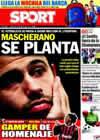 Portada diario Sport del 25 de Agosto de 2010