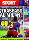 Portada diario Sport del 27 de Agosto de 2010