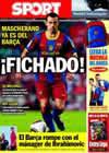 Portada diario Sport del 28 de Agosto de 2010