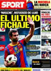 Portada diario Sport del 31 de Agosto de 2010