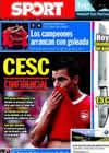 Portada diario Sport del 4 de Septiembre de 2010