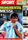 Portada diario Sport del 8 de Septiembre de 2010