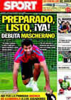 Portada diario Sport del 10 de Septiembre de 2010