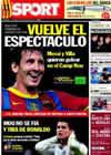 Portada diario Sport del 11 de Septiembre de 2010