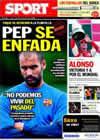 Portada diario Sport del 13 de Septiembre de 2010