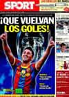 Portada diario Sport del 14 de Septiembre de 2010