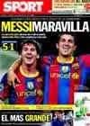 Portada diario Sport del 15 de Septiembre de 2010