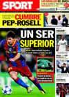 Portada diario Sport del 16 de Septiembre de 2010