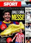 Portada diario Sport del 18 de Septiembre de 2010