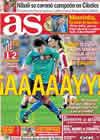 Portada diario AS del 20 de Septiembre de 2010
