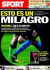 Portada diario Sport del 21 de Septiembre de 2010