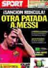 Portada diario Sport del 22 de Septiembre de 2010