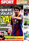Portada diario Sport del 24 de Septiembre de 2010
