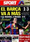 Portada diario Sport del 26 de Septiembre de 2010