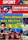 Portada diario Sport del 27 de Septiembre de 2010
