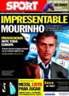 Portada diario Sport del 28 de Septiembre de 2010